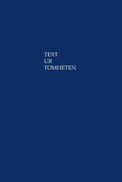 Text ur Tomheten av  Percival