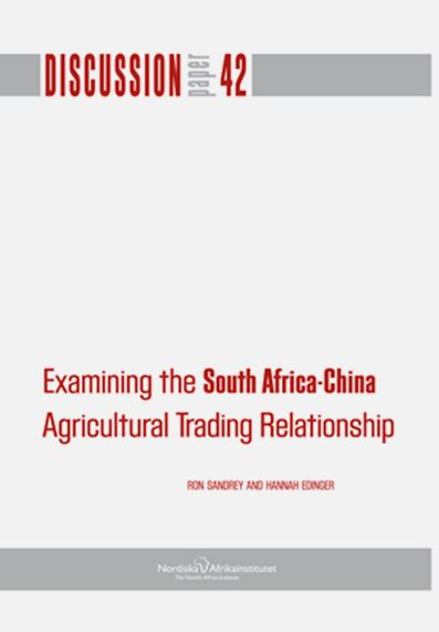 Examining the South Africa-China: agricultural trading relationship